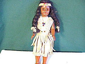 Indian Doll With Leather Outfit And Papoose