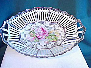 GORGEOUS RETICULATED SILVER TRIMMED BOWL (Image1)