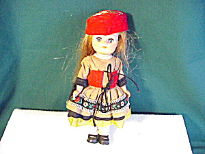 "ADORABLE 7 1/2"" VINYL DOLL  ETHNIC COSTUME (Image1)"