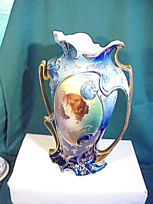 Rs Prussia Cobalt Litta Huge Vase