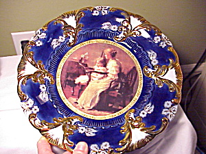 ROYAL VIENNA CROWN COBALT/GOLD PORTRAIT (Image1)