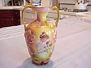 Rs Prussia Portrait Vase 5 Inches Tall