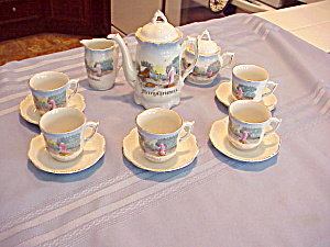 German Child Christmas Tea Set