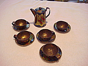 TIN LITHO CHILD TEA SET WITH BUTTERFLIES (Image1)