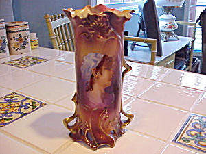 Rs Prussia/royal Vienna Germany Portrait Vase