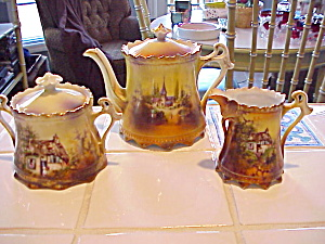 Rs Prussia 3 Pc Scenic Tea Set