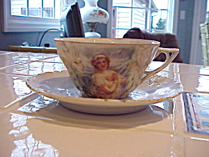 Rs Prussia Winter Portrait Cup And Saucer