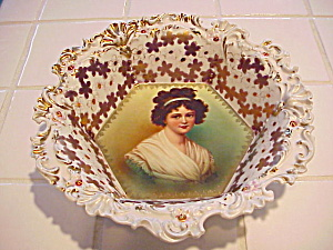 RS PRUSSIA PINK W/JEWELS LEBRUN 5 SIDE BOWL (Image1)