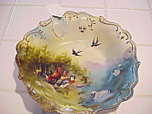 Rs Prussia Three Scene Barnyard Bowl