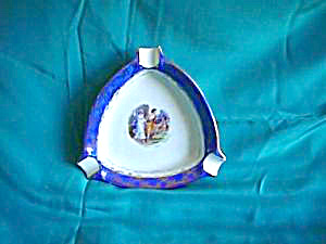 OSCAR SCHLEGELMILCH (Blue Mark) Three part Ashtray w/cupid (Image1)
