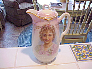 ANTIQUE PORTRAIT CHOCOLATE POT HP (Image1)