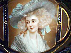 OVAL TWO HANDLED BOWL WITH Gainsboro portrait of Lady (Image1)