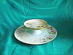 RS TILLOWITZ handpainted Cheese Server (signed) (Image1)