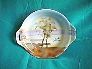 "ES PROV SAXE 7 1/2"" open handled bowl with Bird (Image1)"