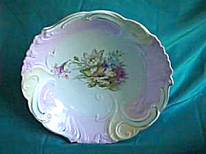 "RS PRUSSIA 9 3/4"" blown out floral bowl (Image1)"