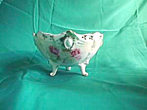 RS PRUSSIA Ribbon and Jewel 3-footed bowl with Roses (Image1)