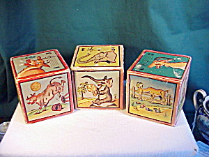 VINTAGE CARDBOARD BLOCKS WITH BELLS INSIDE (Image1)
