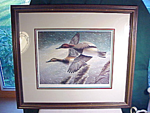 ROBERT LESLIE SIGNED, NUMBERED PRINT GEESE (Image1)