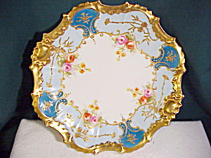 Lush Limoges Plate Delicate Hand Painting