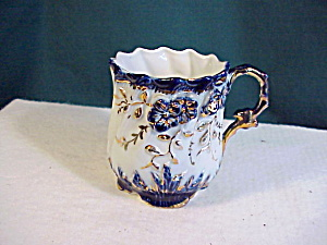 RS PRUSSIA COBALT AND GOLD CUP W/ RAISED DECO (Image1)