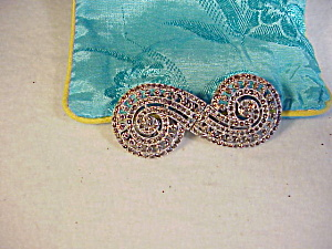 VINTAGE CORO SWIRL PIN/CLIPS (Image1)