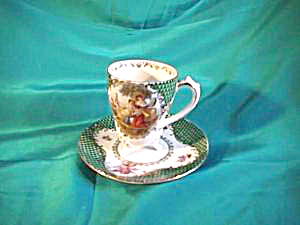 Rs Prussia (Es) Footed Demitasse Cup & Saucer W/myth Scene