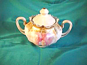 Rs Prussia Covered Sugar Mold 533 Pink Roses=satin Finish