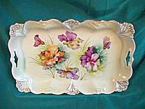 RS PRUSSIA (UM) POINT & CLOVER DRESSER TRAY (Image1)