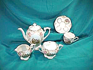 **RARE** RS PRUSSIA (UM) BOXED CHILD'S TEA SET - SCENIC (Image1)