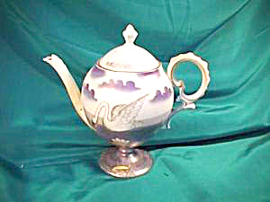RS PRUSSIA (UM) EGG SHAPED SWAN TEAPOT (Image1)