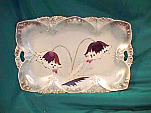 RS PRUSSIA (UM) POINT & CLOVER TRAY W/TIFFANY (Image1)
