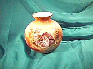 RS PRUSSIA (UM) BULBOUS VASE W/MILL AND OLD LADY (Image1)