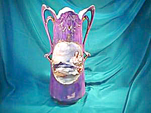 RS PRUSSIA (RV) HUGE TWO HANDLED VASE W/FLORA (TIFFANY) (Image1)