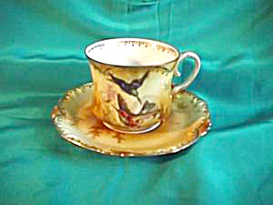 RS PRUSSIA HUMMINGBIRD CUP & SAUCER (Image1)