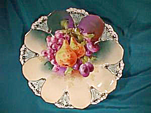 RS PRUSSIA (RED MARK) FRUIT DECOR PLATE (Image1)