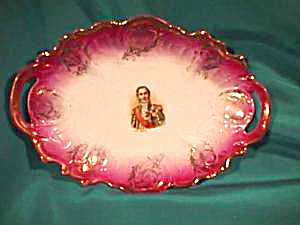 RS PRUSSIA (ES) OPEN HANDLED TRAY W/PORTRAIT (Image1)