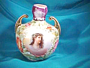Rs Prussia (Es) Gold Handled Vase/portrait