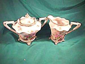 RS PRUSSIA (RED MARK) TIFFANY TRIM CREAM & SUGAR (Image1)