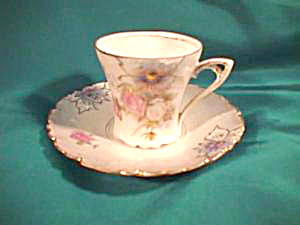 RS PRUSSIA (red mark)CARNATION CUP & SAUCER (Image1)
