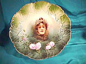Rs Prussia Lettuce Mold Flossie Bowl