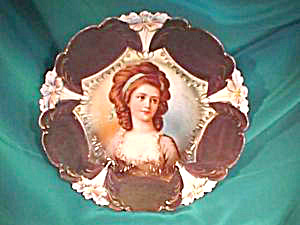 RS PRUSSIA (UM) LILY MOLD PLATE W/RACAMIER (Image1)