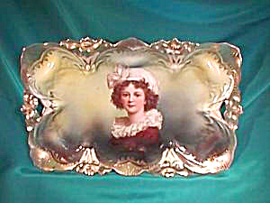 RS PRUSSIA (UM) LILY MOLD PORTRAIT TRAY (Image1)