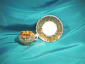 RS PRUSSIA (UM) MINIATURE GOLD CUP & SAUCER (Image1)
