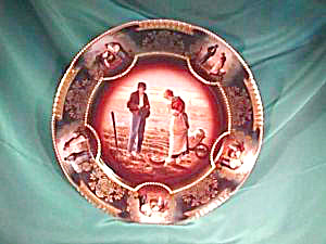 "ROYAL VIENNA (ZS) MEDALLION ""GLEANERS"" PLATE (Image1)"