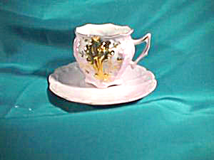 "RS PRUSSIA (OS) 2"" CUP AND SAUCER W/GOLD (Image1)"