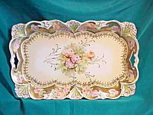 RS PRUSSIA (STEEPLE MARK) ROSES DRESSR TRAY (Image1)