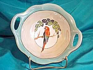 RS PRUSSIA (GERMANY) O-H BOWL WITH PARROT (Image1)