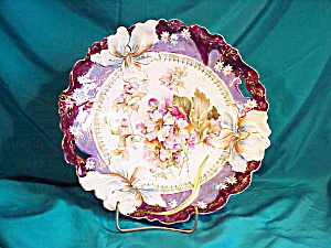 Rs Prussia (Rm) Iris Mold Tiffany Plate
