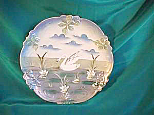 "RS PRUSSIA UM SATIN SWAN PLATE 7 3/4"" (Image1)"