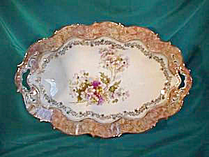 """RS PRUSSIA (UM) OPEN HANDLED 12 1/2"""" BOWL (Image1)"""